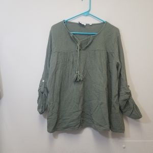 Belle France green top sz Small